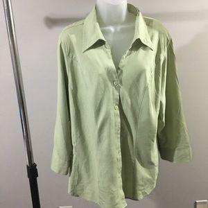 DRESS BARN | woman's green button down